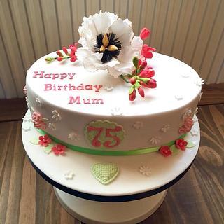 Peony and Freesia Cake - Cake by Mrs BonBon