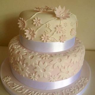 Funky flower cake - Cake by BellaButterflys