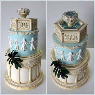 Greek Themed Birthday Cake