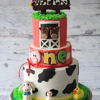 Animal farm cake - Cake by Cake Addict