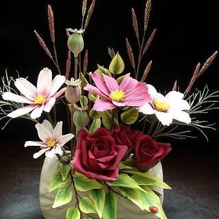 Sugar flower arrangement