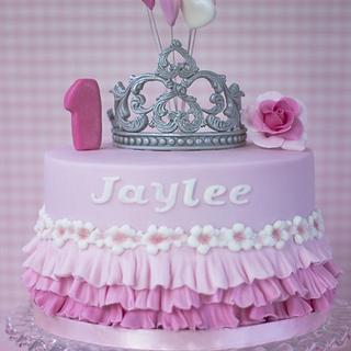 Tiara ruffles birthday cake