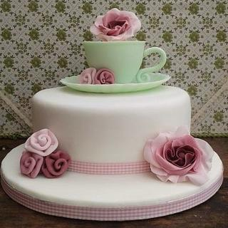 Cup and saucer cake - Cake by Baked by Lisa