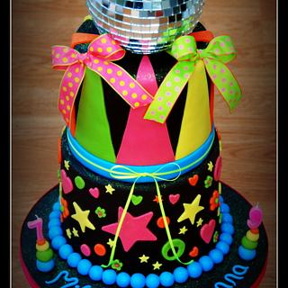 Neon Disco cake - Cake by The Sugarpaste Fairy