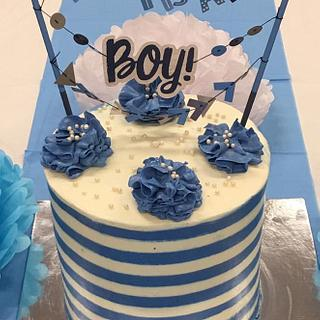Simple baby shower cake