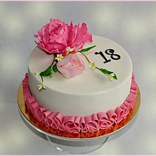 Cake for 18th birthday