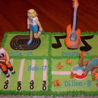 Multi-Birthdays Cake