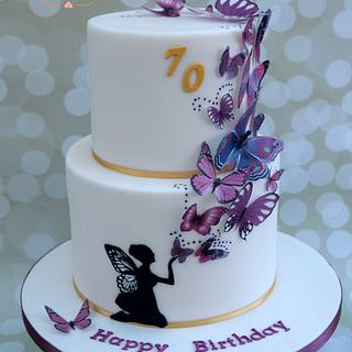 Fairy and Butterflies Cake