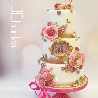 Surprisebirthday 50 years birthday cake