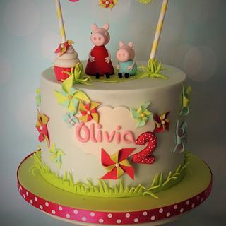 Peppa Pig and George - Cake by Shereen