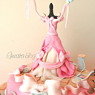 cinderella cake  flying birds