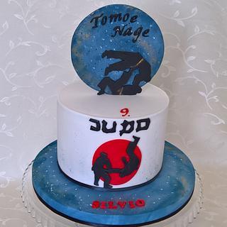 "Sports cake ""Tomoe nage"""