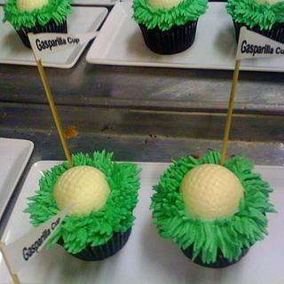 Golf Ball Cup Cakes