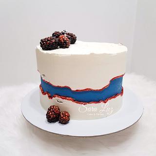 Superman Fault Line Cake