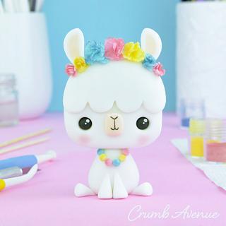 Cute Llama Cake Topper :)