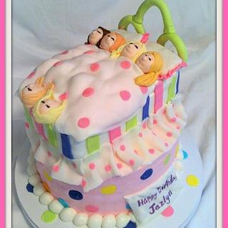 Girls Sleepover Birthday Cake