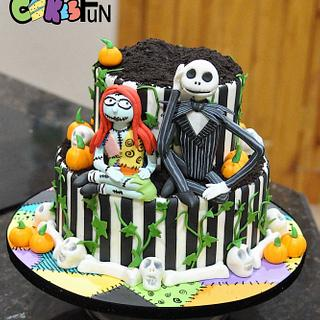 Friday the 13th Wedding Cake - Cake by Cakes For Fun