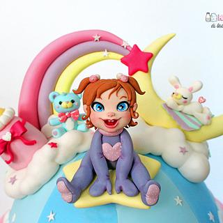 Childhood fantasy cake topper