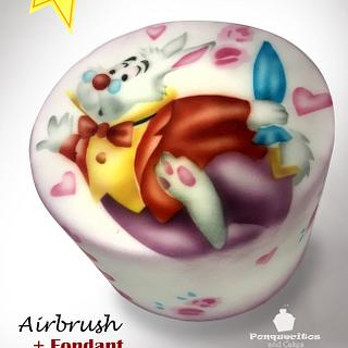 Airbrush Cake: White Rabbit