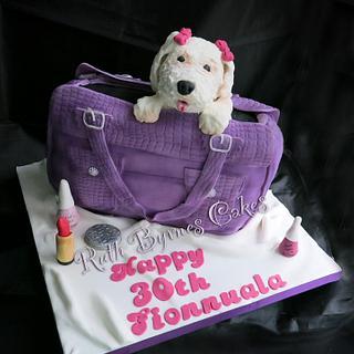 Fionnuala's 30th birthday handbag cake - Cake by Ruth Byrnes