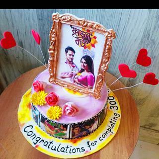 T.V.Serial cake