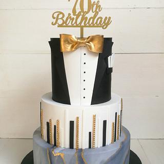 70th Birthday cake for a gentlemen