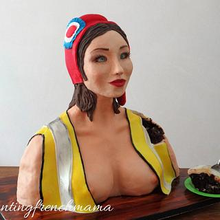 yellow jacket french marianne  - Cake by rantingfrenchmama