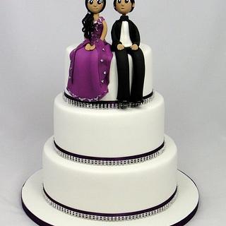 Indian Bride & Groom Wedding Cake