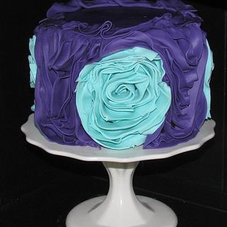 Fondant Fabric Rose Cake