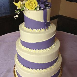 Purple & Yellow Cake