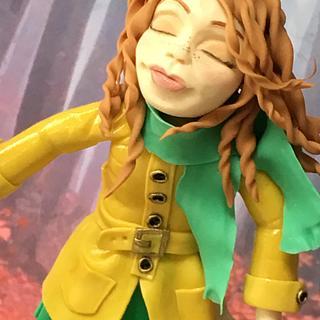 Autumn walk figurine - Cake by Becky