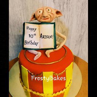 Dobby the house elf topper cake.
