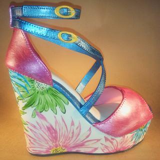Floral Wedge Heels