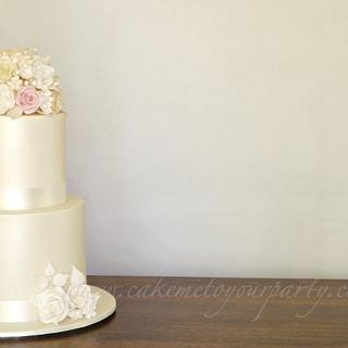 Pastel Wedding Cake- allergy friendly - Cake by Leah Jeffery- Cake Me To Your Party