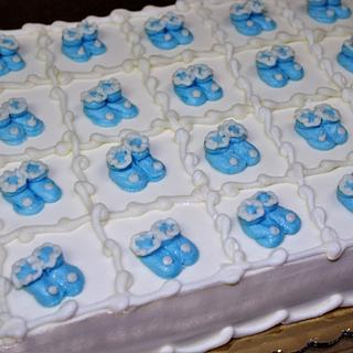 Baby Booties cake Buttercream