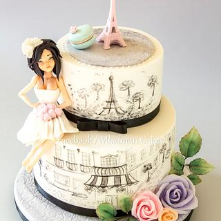 Bachelorette Cake in the French style