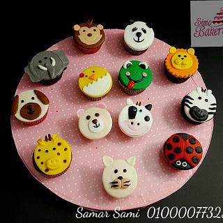 Farm animals cupcakes - Cake by Simo Bakery