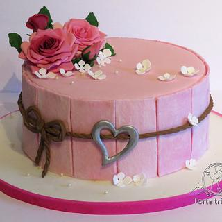 Romantic Valentine's Cake - Cake by torte trifft stil