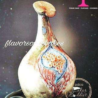 caker buddies pottery theme collab-Vivid beauty  - Cake by pooja1612