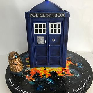 Tardis cake - Dr. Who - Cake by Talk of the Town Cakes LLC