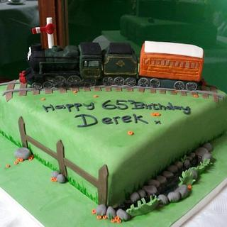 black 5 steam train cake