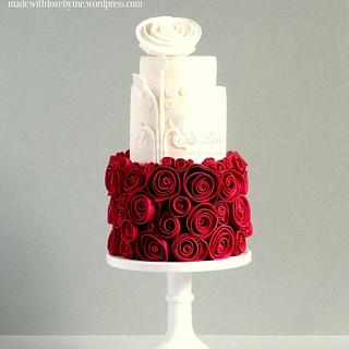 Snow White and Rose Red Cake