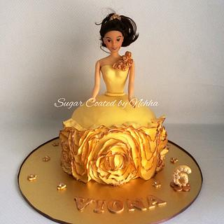 Ruffle dress cake :)