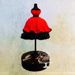Red dress cake - CPC Birthday Collaboration