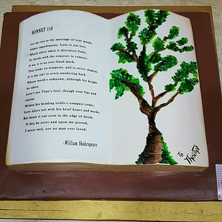 Shakespeare Sonnet Book  - Cake by Michelle's Sweet Temptation
