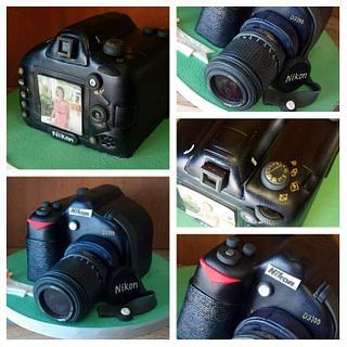 3D Nikon Camera Cake