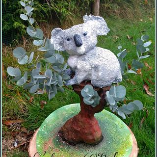 Koala in Eucalyptus Cake