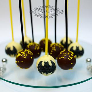 Cake pops Batman