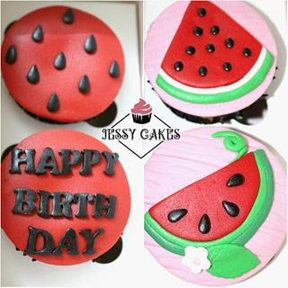Watermelon cupcakes - Cake by Yasmin Amr