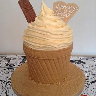 Mr Whippy Giant Cupcake  - Cake by Heartache Cakes